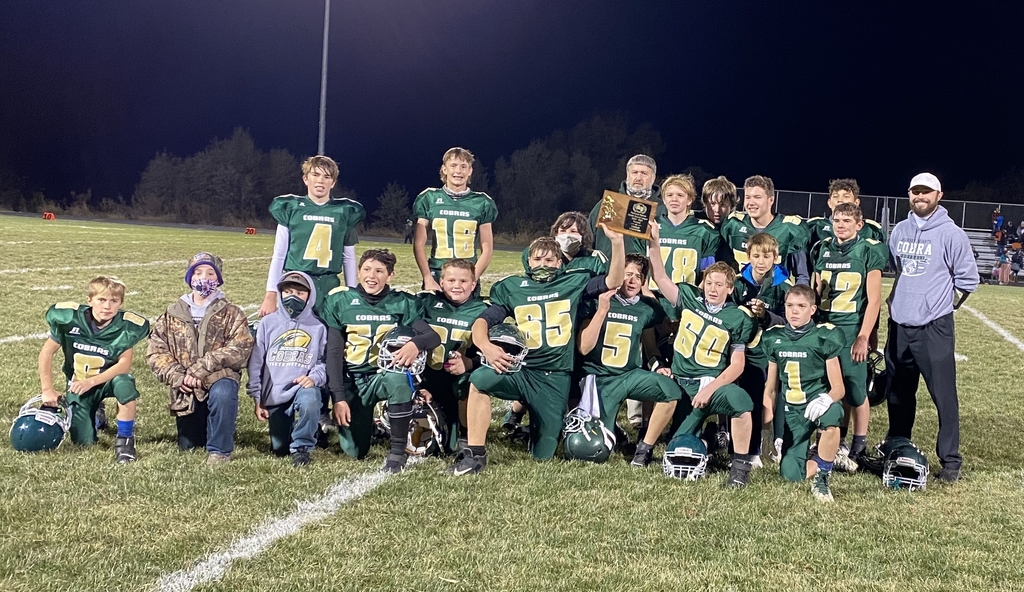 Your NEKL Middle School Football Champions!