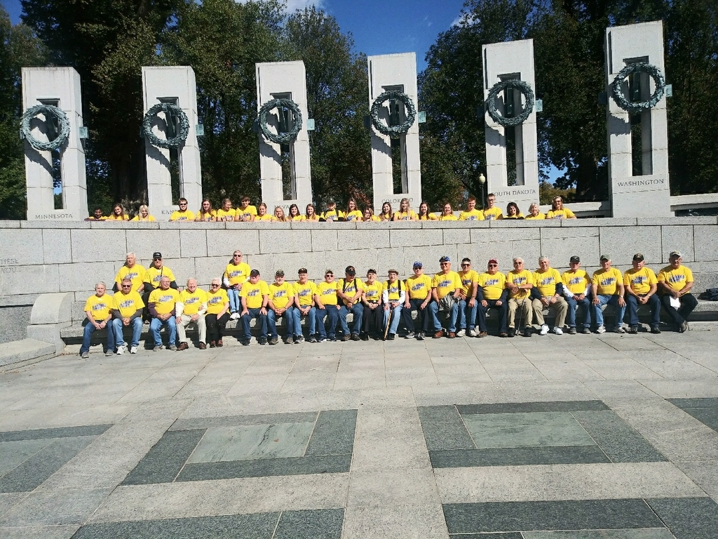 Honor Flight 8 just visited the WWII Memorial.