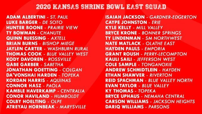 2020 Kansas Shrine Bowl
