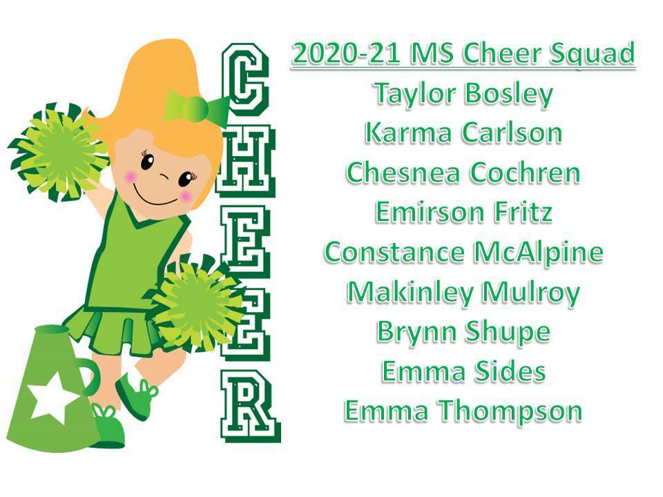 2020-21 MS Cheer Squad